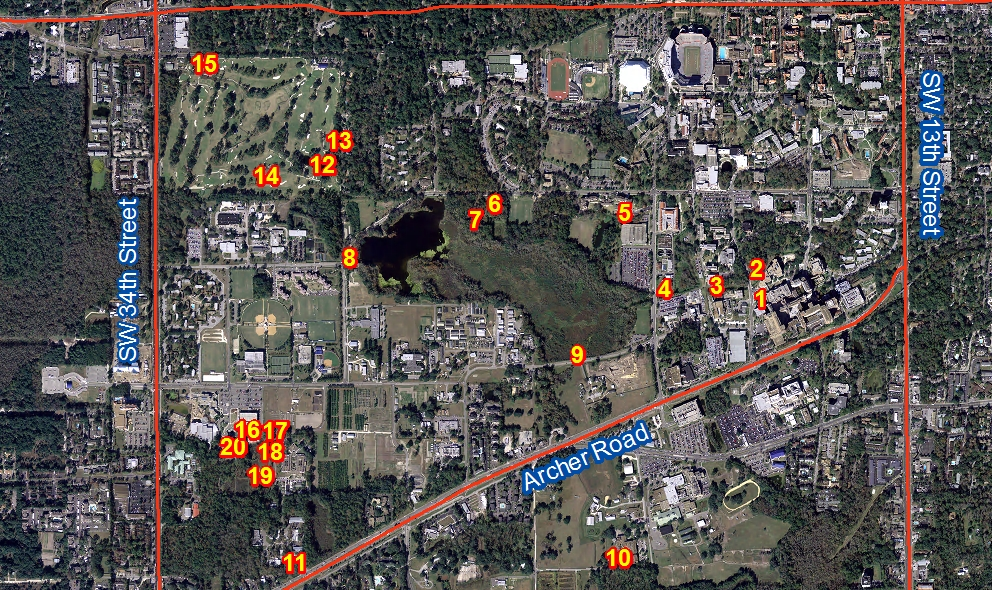 Prevention Water Quality Monitoring UF Clean Water Campaign - Uf camp us map
