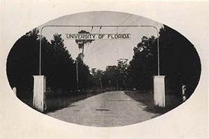 UF main entrance at University Ave and 13th st. 1927