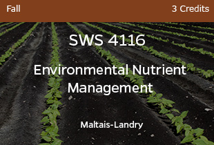 SWS4116, Landry, Environmental Nutrient Management