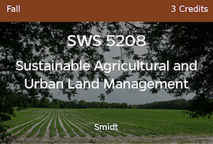 SWS5208 Smidt Sustainable Ag and Urban Land Mngt