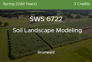 SWS6722 Soil Landscape Modeling - Grunwald - Spring of Odd Years - 3 credits