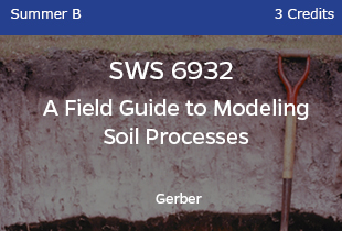 SWS6932 Gerber Field Guide to Modeling Soil Processes 3 credits