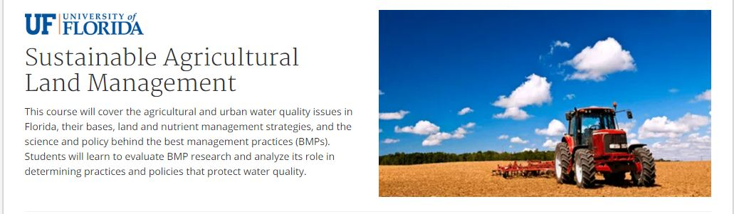 Sustainable Agricultural Land Management MOOC on Coursera